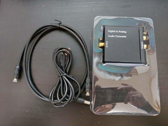アナログから光デジタル端子変換コンバーター